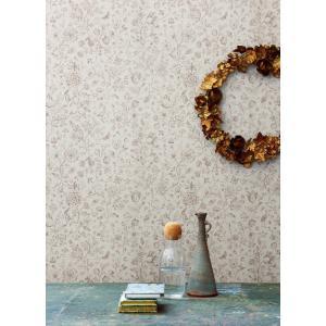 PIPSTUDIO4  375011 輸入壁紙 花 鳥 動物 昆虫 ベージュ  DIY 貼ってはがせる オランダ製 10m巻|decoall