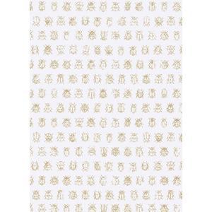 PIPSTUDIO4  375030 輸入壁紙 昆虫柄 白 ゴールドてんとう虫 キッズ こども部屋  DIY 貼ってはがせる オランダ製 10m巻|decoall