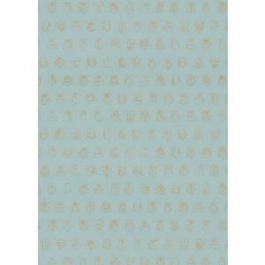PIPSTUDIO4  375031 輸入壁紙 昆虫柄 アイスブルー ゴールドてんとう虫 キッズ こども部屋  DIY 貼ってはがせる オランダ製 10m巻|decoall