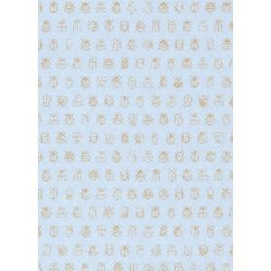 PIPSTUDIO4  375035 輸入壁紙 昆虫柄 アイスブルー 水色 ゴールドてんとう虫 キッズ こども部屋  DIY 貼ってはがせる オランダ製 10m巻|decoall