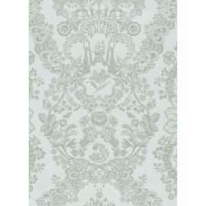 PIPSTUDIO4  375041 輸入壁紙 花柄 レース ダマスク グリーン  DIY 貼ってはがせる オランダ製 10m巻|decoall