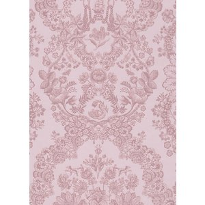 PIPSTUDIO4  375043 輸入壁紙 花柄 レース ダマスク ピンク  DIY 貼ってはがせる オランダ製 10m巻|decoall