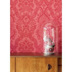 PIPSTUDIO4  375044 輸入壁紙 花柄 レース ダマスク レッド  DIY 貼ってはがせる オランダ製 10m巻|decoall