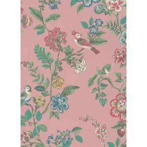 PIPSTUDIO4  375063 輸入壁紙 花 鳥 ピンク ボタニカル  DIY 貼ってはがせる オランダ製 10m巻|decoall