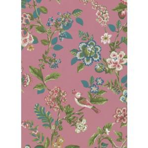 PIPSTUDIO4  375064 輸入壁紙 花 鳥 ピンク ボタニカル  DIY 貼ってはがせる オランダ製 10m巻|decoall