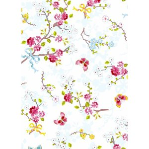 PIPSTUDIO4  375070 輸入壁紙 花 リボン 蝶  ホワイト 白  DIY 貼ってはがせる オランダ製 10m巻|decoall