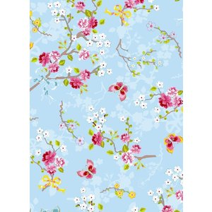 PIPSTUDIO4  375071 輸入壁紙 花 リボン 蝶  ブルー 青  DIY 貼ってはがせる オランダ製 10m巻|decoall