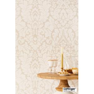 輸入壁紙  FUSION 382540  テシード ダマスク サンドベージュ オフホワイト  国内在庫品 クロス はがせる 10m巻 壁紙 |decoall