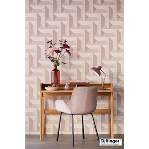 輸入壁紙  FUSION 382571  テシード 幾何学 ベージュ ピンク モダン  国内在庫品 クロス はがせる 10m巻 壁紙 |decoall