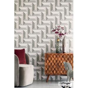 輸入壁紙  FUSION 382573  テシード 幾何学 グレー ベージュ モダン  国内在庫品 クロス はがせる 10m巻 壁紙 |decoall