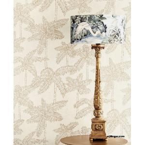 輸入壁紙  FUSION 384510  テシード ヤシの木 アイボリー ベージュ ゴールド トロピカル  国内在庫品 クロス はがせる 10m巻 壁紙 |decoall