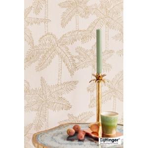 輸入壁紙  FUSION 384512  テシード ヤシの木 ピンク ゴールド トロピカル  国内在庫品 クロス はがせる 10m巻 壁紙 |decoall