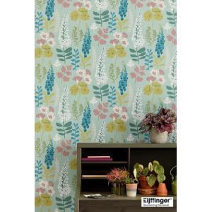 輸入壁紙  FUSION 384531  テシード 花 フラワー グリーン フローラル  国内在庫品 クロス はがせる 10m巻 壁紙 |decoall