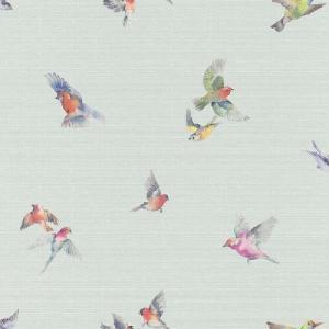 rasch 2020 輸入壁紙 401141 ライトブルー 水色 鳥 アニマル クロス 10m巻 DIY はがせる ドイツ製  国内在庫品|decoall