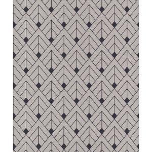 rasch 2020 輸入壁紙 403305 グレー 幾何学 和風 和柄 ふすま クロス 10m巻 DIY はがせる ドイツ製  国内在庫品|decoall