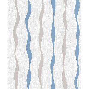 rasch 2020 輸入壁紙 415414 ホワイト ブルー 曲線 ノルディック クロス 10m巻 DIY はがせる ドイツ製  国内在庫品|decoall