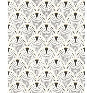 rasch 2020 輸入壁紙 433210 ホワイト 白 幾何学柄 青海波紋 和風 和柄 ふすま クロス 10m巻 DIY はがせる ドイツ製  国内在庫品|decoall