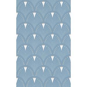 rasch 2020 輸入壁紙 433234 ブルー 青 幾何学柄 青海波紋 和風 和柄 ふすま クロス 10m巻 DIY はがせる ドイツ製  国内在庫品|decoall