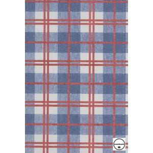 輸入壁紙 TECIDO GRIS GRIS タータンチェック柄ブルー 4400085|decoall