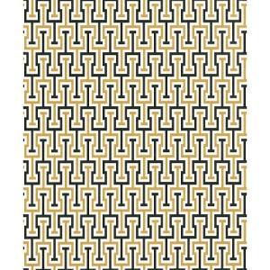 rasch 2020 輸入壁紙 525328 ゴールド 幾何学柄 クロス 10m巻 DIY はがせる ドイツ製  国内在庫品|decoall