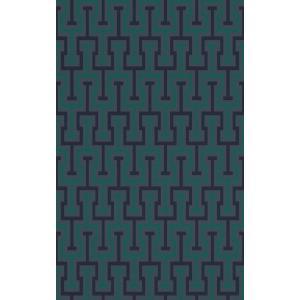 rasch 2020 輸入壁紙 525342 グリーン 幾何学柄 クロス 10m巻 DIY はがせる ドイツ製  国内在庫品|decoall