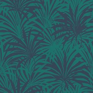 rasch 2020 輸入壁紙 525946 グリーン ネイビー 緑 葉っぱ  クロス 10m巻 DIY はがせる ドイツ製  国内在庫品|decoall