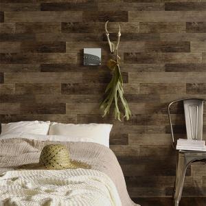 rasch2020sc  616477 輸入壁紙 ラッシュ  木目 茶色 ブラウン クロス 10m DIY ドイツ製 板柄 貼ってはがせる フェイク ウッド wood|decoall