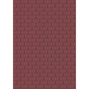輸入壁紙  ESPOIR NEW AGE  国内在庫 73920538 赤 松の葉柄 和モダン CASAMANCE テシード DIY |decoall