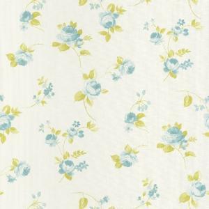 輸入壁紙  CASELIO  ASHLEY フランス製 53cm×10m 花柄 ブルー グリーン 69366077 エレガント フェミニン テシード|decoall