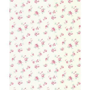 輸入壁紙  フランス製 53cm×10m ピンク 花柄 ASHL69374163 エレガント フェミニン テシード はがせる フランス製 decoall