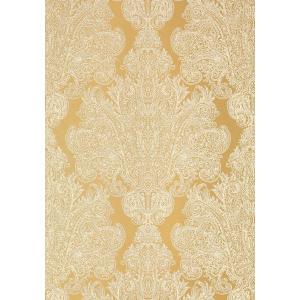 輸入壁紙 ANNA FRENCH メタリックダマスク柄 ゴールド AT6102|decoall
