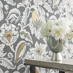 輸入壁紙 ANNA FRENCH 花柄 グレー AT6114|decoall