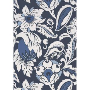 輸入壁紙 ANNA FRENCH 花柄 ネイビー AT6115|decoall