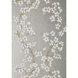 輸入壁紙 ANNA FRENCH 花柄 シルバー AT6156|decoall