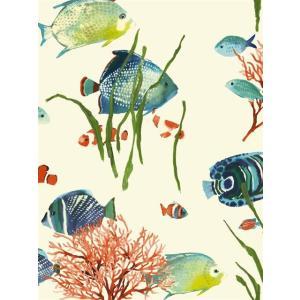 輸入壁紙 魚柄ベージュ ASHFORDTROPICS AT7001|decoall