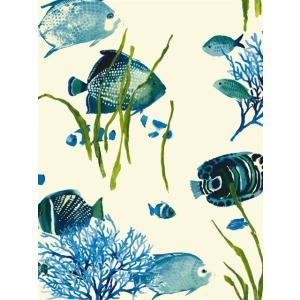 輸入壁紙 魚柄ブルー ASHFORDTROPICS AT7002|decoall