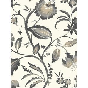 輸入壁紙 花柄グレー ASHFORDTROPICS AT7018|decoall