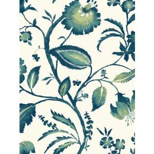輸入壁紙 花柄グリーン ASHFORDTROPICS AT7020|decoall