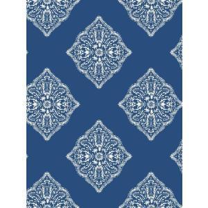 輸入壁紙 ダマスク柄ブルー ASHFORDTROPICS AT7030|decoall