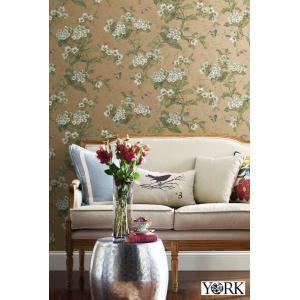 輸入壁紙  ESPOIR NEW AGE  国内在庫 GA6961 ゴールド 花柄 和モダン ふすま YORK テシード DIY |decoall