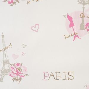 輸入壁紙 パリ・エッフェル塔ピンク GIRLS Only(ガールズオンリー) GLN62011060|decoall
