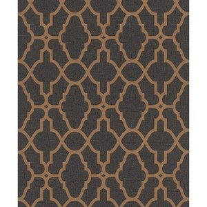 はじめてセット rasch 2020 輸入壁紙 309331 ゴールド ブラック 幾何学 モダン クロス 10m巻 DIY はがせる ドイツ製  国内在庫品|decoall