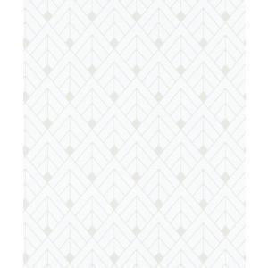はじめてセット rasch 2020 輸入壁紙 403329 ホワイト 白 シルバー 幾何学 和風 和柄 ふすま クロス 10m巻 DIY はがせる ドイツ製  国内在庫品|decoall