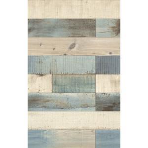 はじめての輸入壁紙DIYセット ドイツrasch(ラッシュ) スクラップウッド フェイク 木 水色  442120 クロス DIY rasch2019 はがせる|decoall