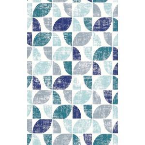 はじめてセット rasch 2020 輸入壁紙 519839 ブルー 青 ホワイト 白 幾何学 レトロ 北欧 クロス 10m巻 DIY はがせる ドイツ製 国内在庫品|decoall
