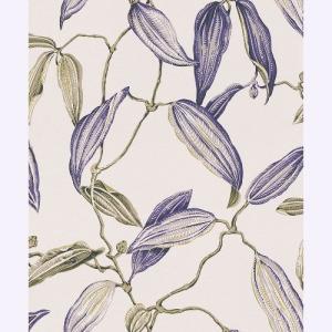 はじめてセット rasch 2020 輸入壁紙   525731 ホワイト パープル 白 紫 花 植物 クロス 10m巻 DIY は がせる ドイツ製  国内在庫品|decoall