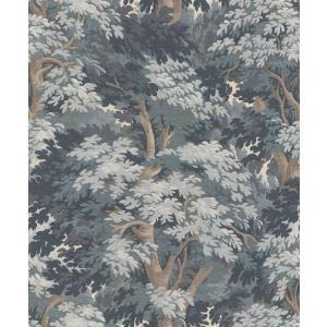 はじめての輸入壁紙DIYセット ドイツrasch(ラッシュ) 森林柄 密林 フォレスト 青 ブルー 528251 クロス DIY rasch2019 はがせる|decoall