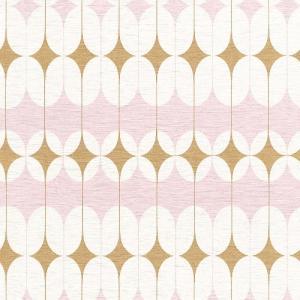 はじめてセット rasch 2020 輸入壁紙 531114 ホワイト ピンク 白 ゴールド 金 幾何学 北欧 クロス 10m巻 DIY はがせる ドイツ製 国内在庫品 decoall