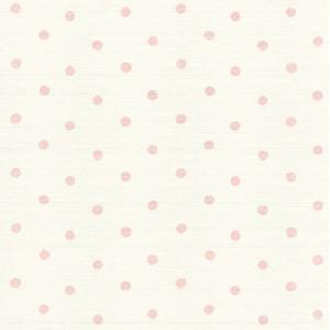 はじめての輸入壁紙DIYセット ドイツrasch(ラッシュ) ドット 水玉 ピンク  613414 クロス DIY rasch2019 はがせる|decoall