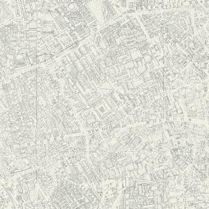 はじめての輸入壁紙DIYセット ドイツrasch(ラッシュ) 地図 マップ ビンテージ 白 613827 クロス DIY rasch2019 はがせる|decoall